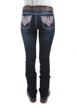 Women's Pure Western Macy Boot Cut Jean Leg 34""