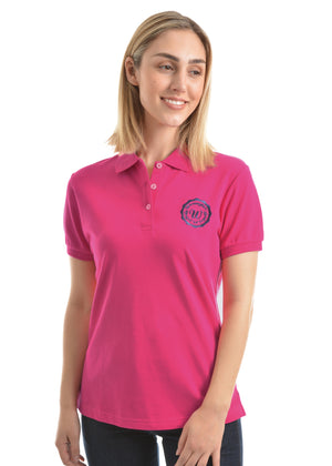 Women's Wrangler Tina Shortsleeve Polo - Fuschia
