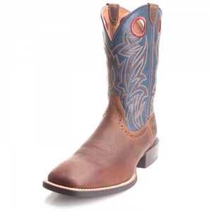 The Men's Blue Ariat Sidebet Boots