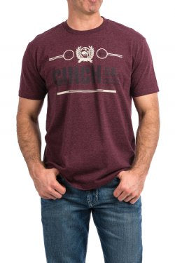 Men's Cinch Moran  Plum Tee Shirt MTT1690337