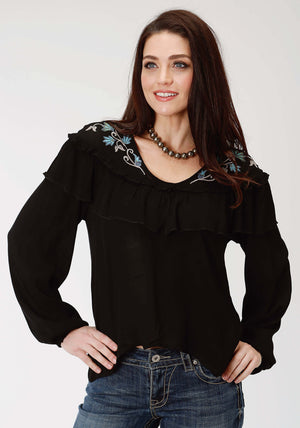 Women's Roper Studio West Collection L/S Shirt - Blue