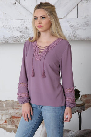 Women's Cinch Crepe Top CTW7200002