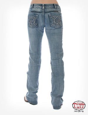 Women's Cowgirl Tuff Double Lucky Studs Jeans