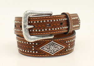 Kid's Ariat Large Diamond Shape Concho Belt - Diamond K Country