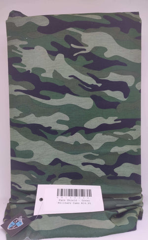 Face Shield - Green Military Camo