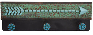 Pure Western Floral Turquoise Arrow Hanger