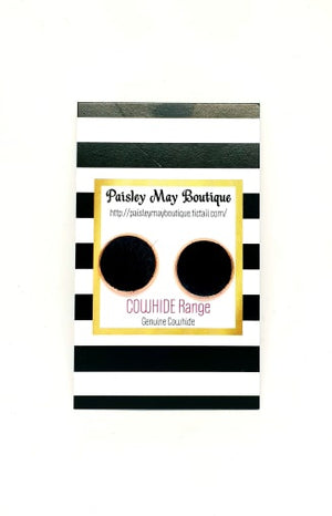 Paisley May Boutique Cowhide Earring #1