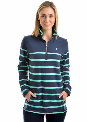 Women's Thomas Cook Womens Camilla Stripe 1/4 Zip Neck Rugby
