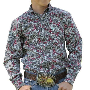 Boy's Cinch Dai Floral Print Shirt