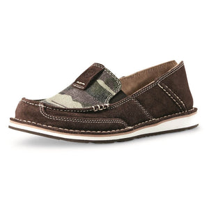 Women's Ariat Cruiser Coffee Bean Suede/ Camo