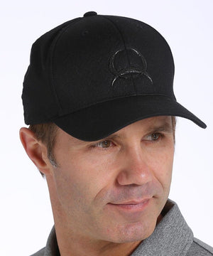 Cinch Black Flex Fit  Logo Hat - Diamond K Country