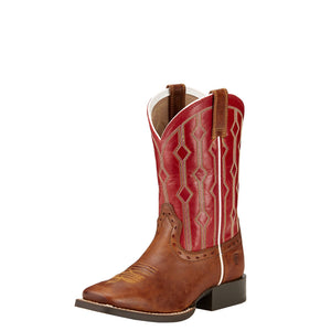 Kid's Ariat Live Wire Wood and Mega Red Boots - Diamond K Country
