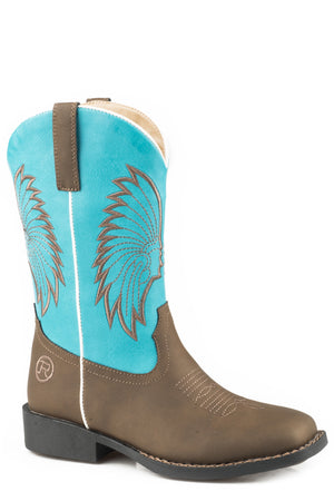 Kid's Roper Big Chief Boots Turquoise