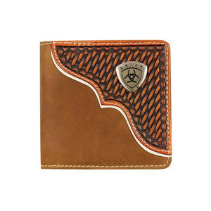 The Ariat Bifold Tan Stitched Wallet
