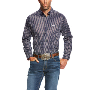Men's Ariat Relentless Bold Navy Print Shirt