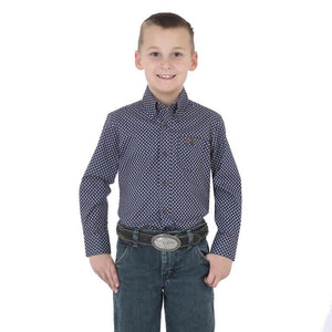 Boy's Wrangler 20X  Advanced Comfort Shirt - Diamond K Country