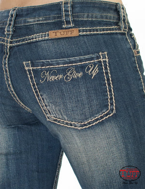 Women's Cowgirl Tuff Never Give Up Jeans