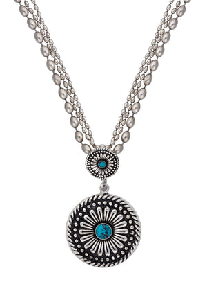 Montana Silversmiths - Desert Mesa Flower Drop Pendant Necklace