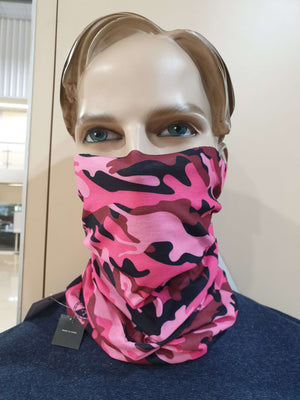 Face Shield - Pink Military Camo