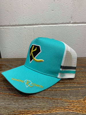 ADULT'S - Teal Diamond K Country Cap