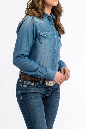 Cinch Women's Chambray Snap Front Jean Shirt