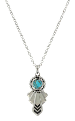 Montana Silversmiths - Southwestern Turquoise and Silver Heaven Necklace