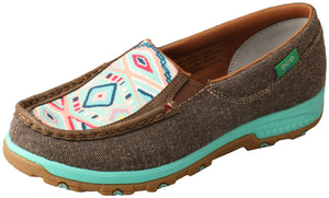 Women's Twisted X Eco Aztec Cellstretch Slip On Mocs
