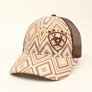 Ariat Brown Aztec & Mesh Cap