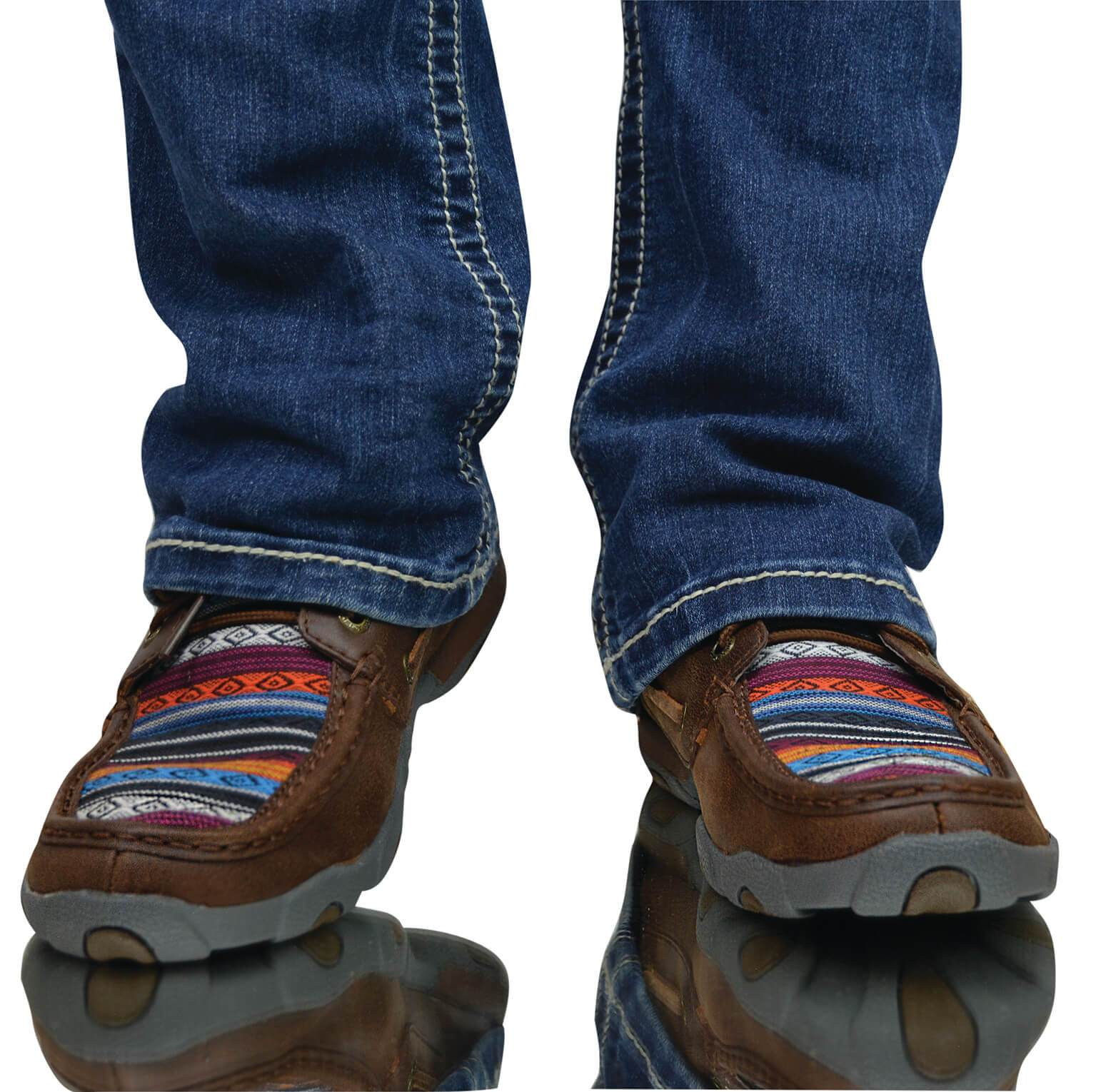 b2c2d4b4c8a Women's Twisted X Casual Driving Mocs Low Shoe Brown and Serape