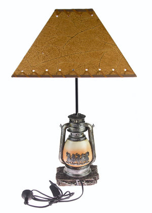Brigalow Western Themed Table Lamp - Lantern Design