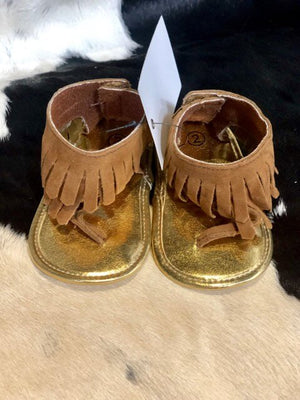 Infant Leather Tassel Sandals