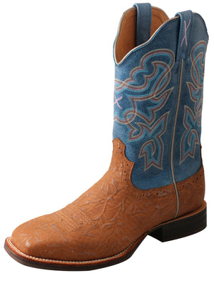 Women's Twisted X Ruff Stock Tan and Sky Blue Western Boots