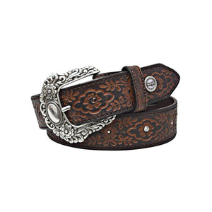 The Women's Wrangler Violet Belt  in Coffee