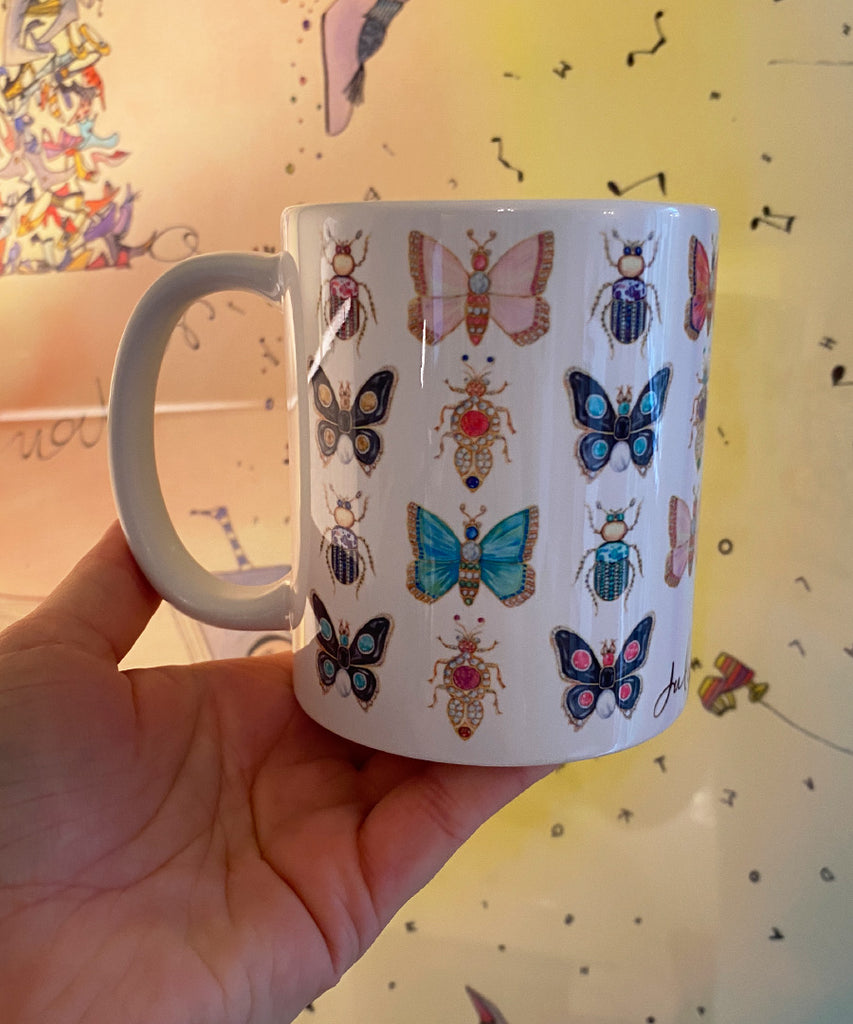 Butterflies & Bugs Coffee Mug