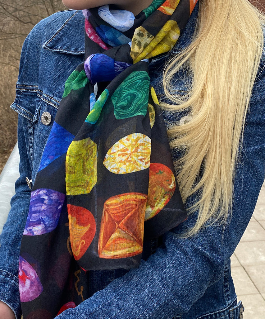 Rainbow Gemstone Scarf