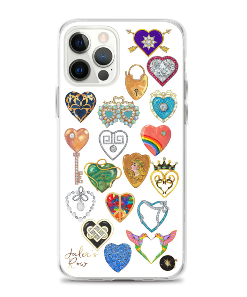 Jeweled Hearts Phone Case