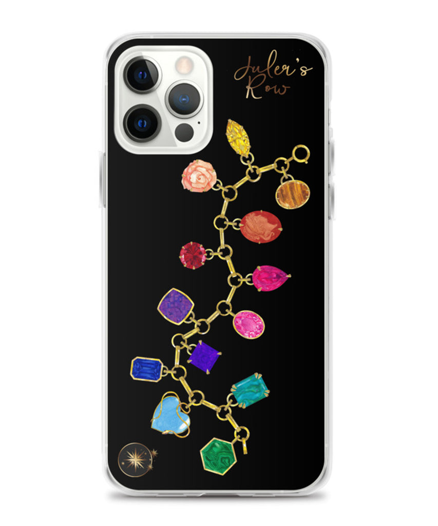 Gold & Gemstone Charm Bracelet Phone Case