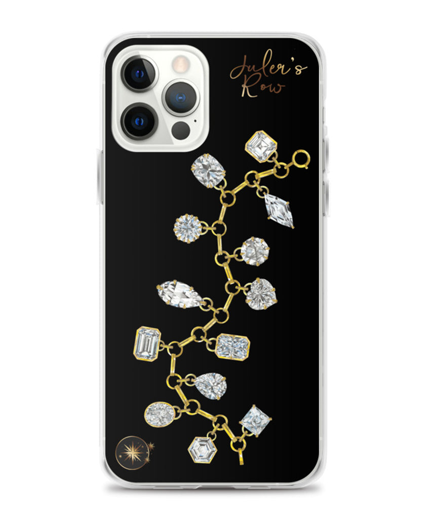 Gold & Diamond Charm Bracelet Phone Case