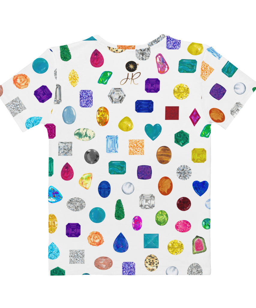 All Over Print Gemstone & Diamond Print Tee
