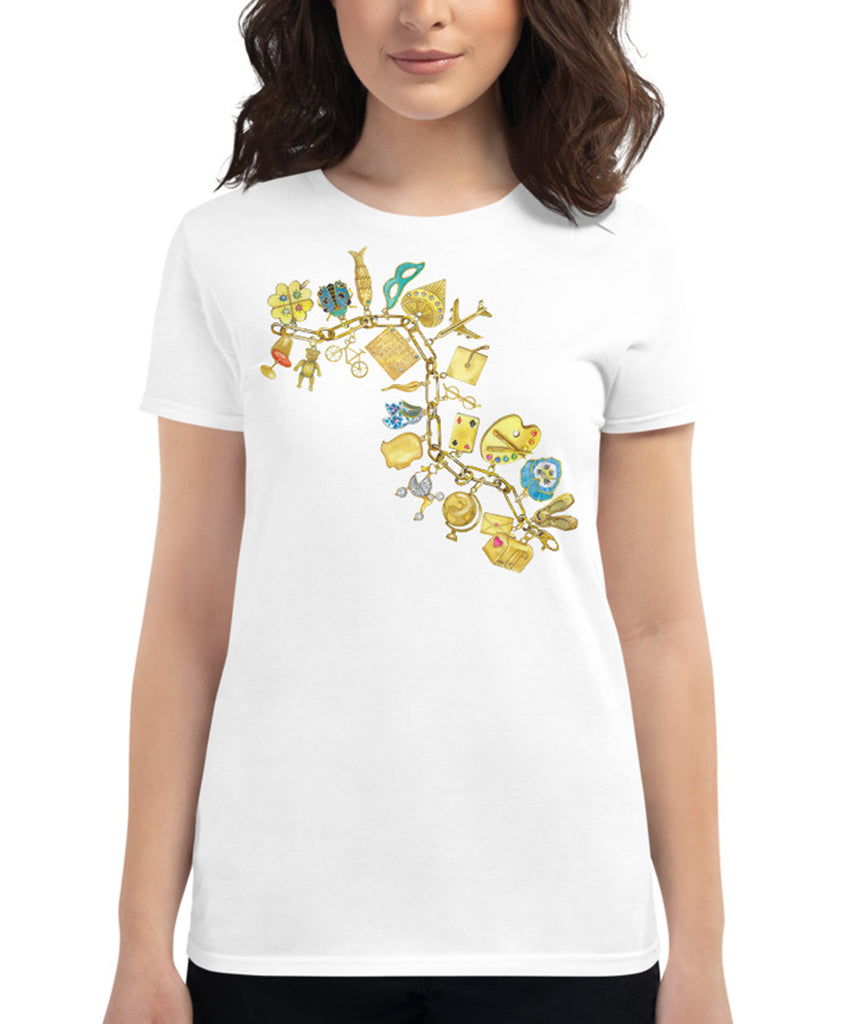 Yellow Gold Charm Bracelet Tee