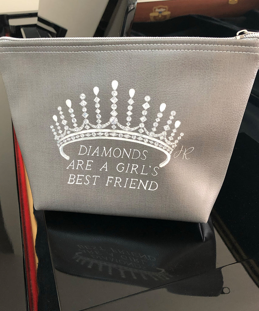 Diamonds are a Girl's Best Friend Makeup Bag