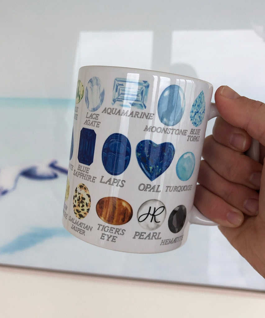 Favorite Gemstones with Names Coffee Mug