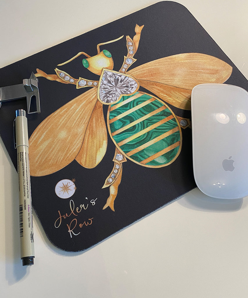 Bee Brooch Mouse Pad