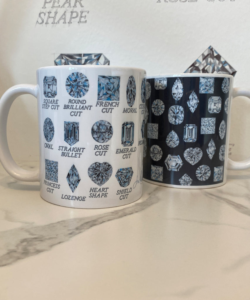 Diamond Shapes with Names Coffee Mug