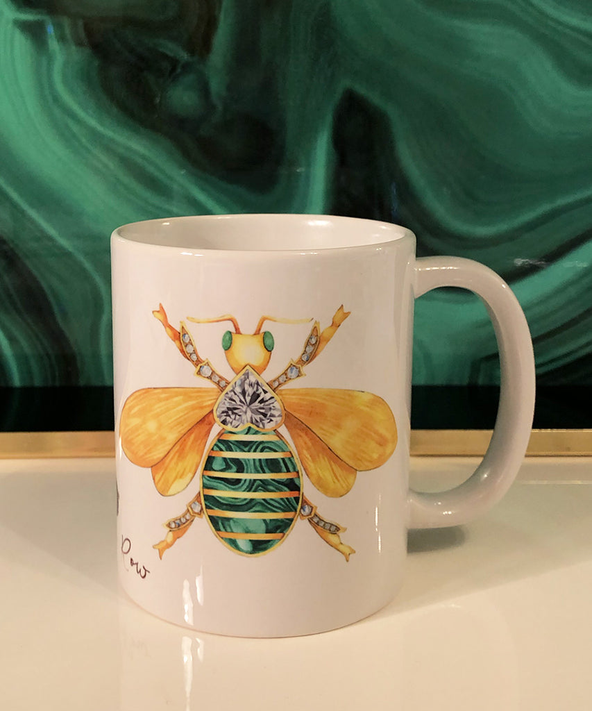 Bee Brooch Coffee Mug