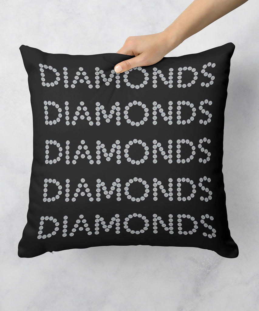 Diamonds on Black Pillow