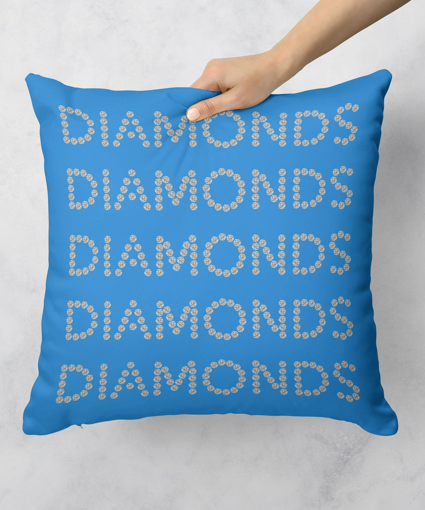 Diamonds on Blue Pillow