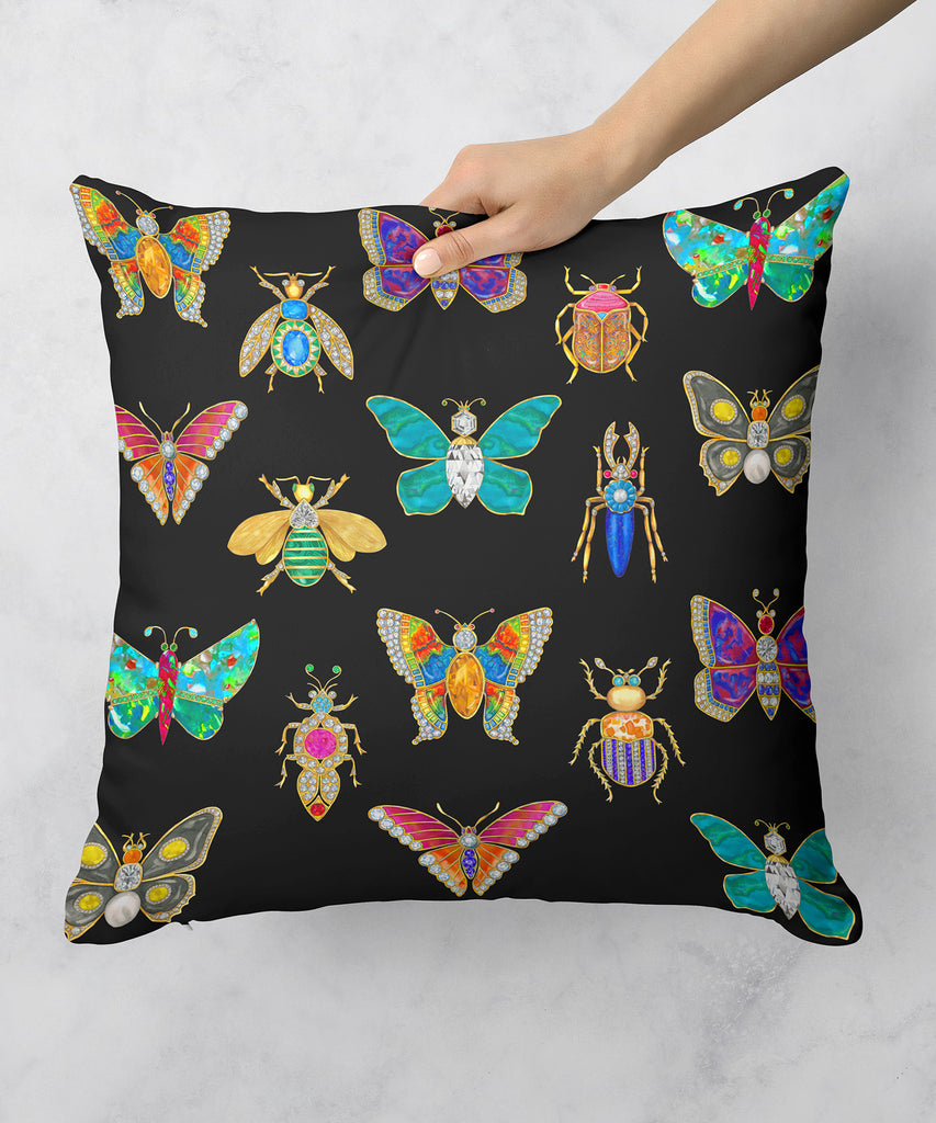 Butterfly & Bug Brooch Pillow