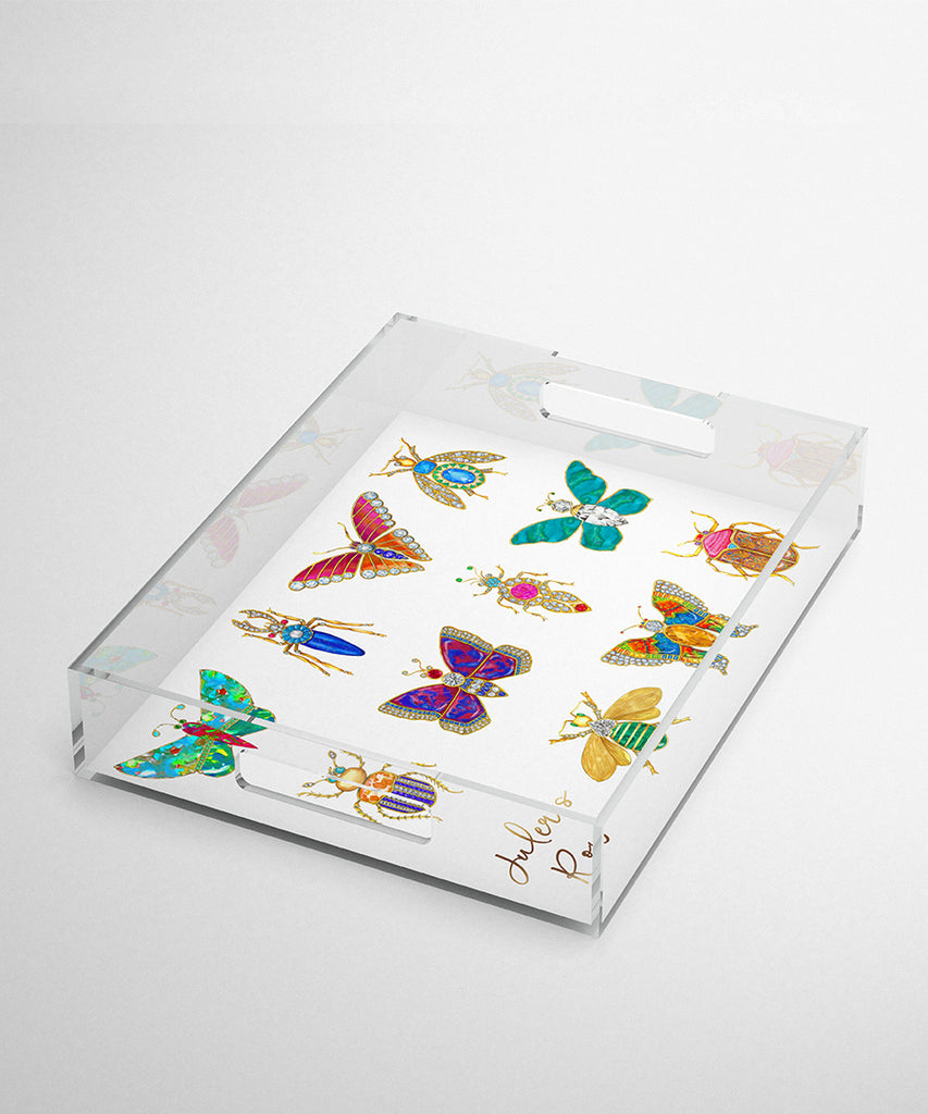 Butterfly & Bug Acrylic Tray