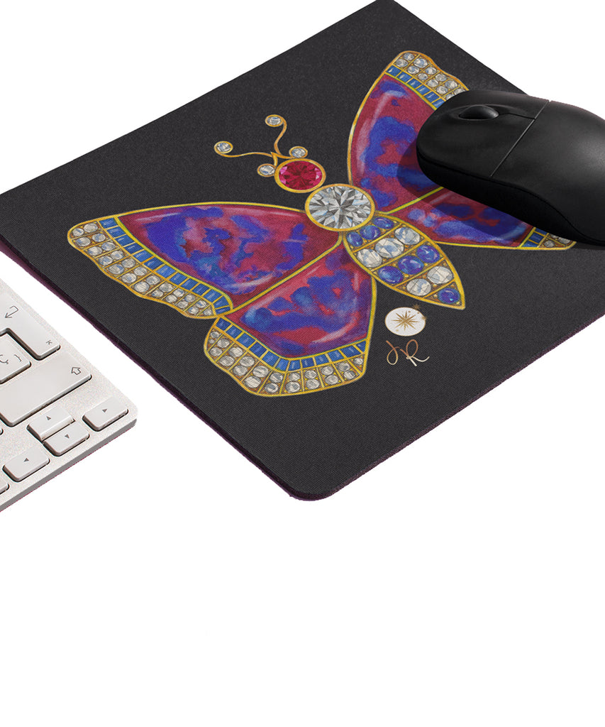 Butterfly Brooch Mouse Pad